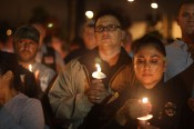 Mourners at candlelight vigil